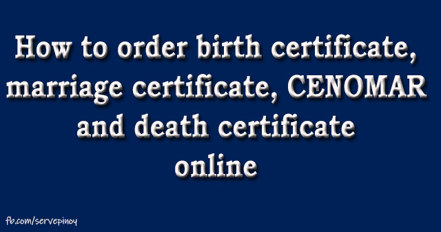 order birth certificate only Archives - Serve Pinoy